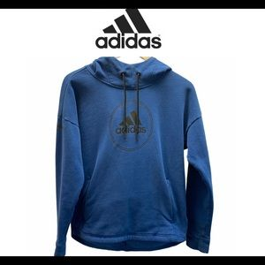Adidas blue pullover hoodie size extra small